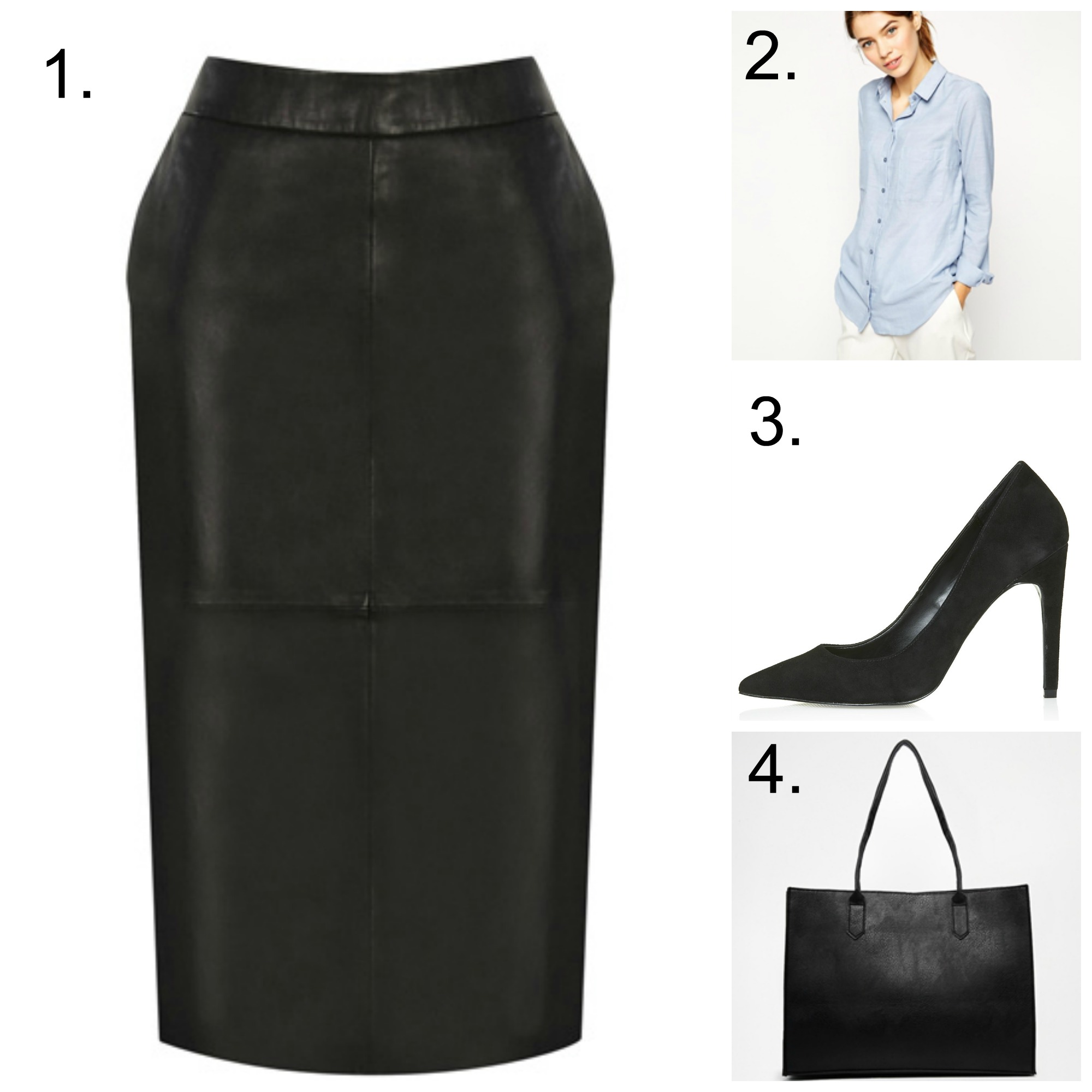 A leather skirt for work... - Shelley Loves